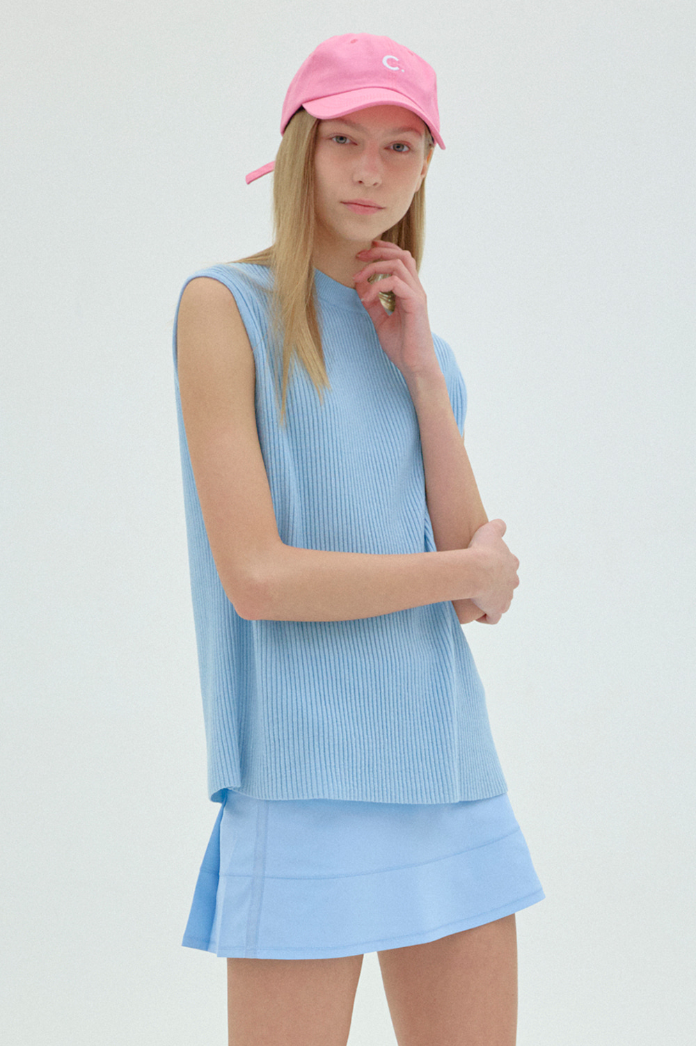 Pleated Skirt  (LightBlue)