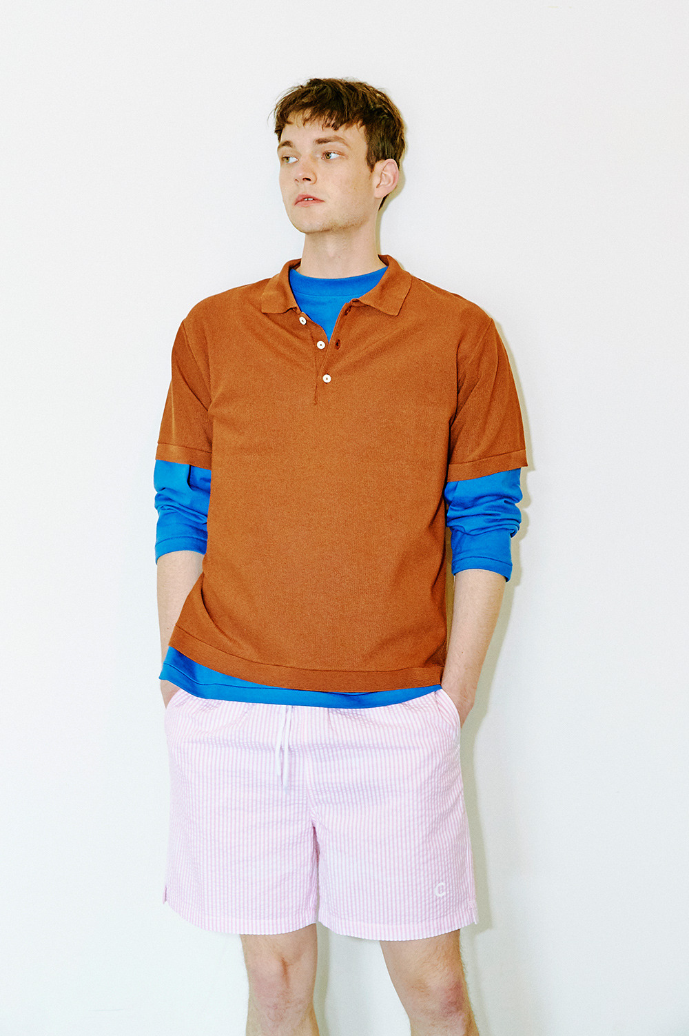 Seersucker Shorts_Men (Pink)