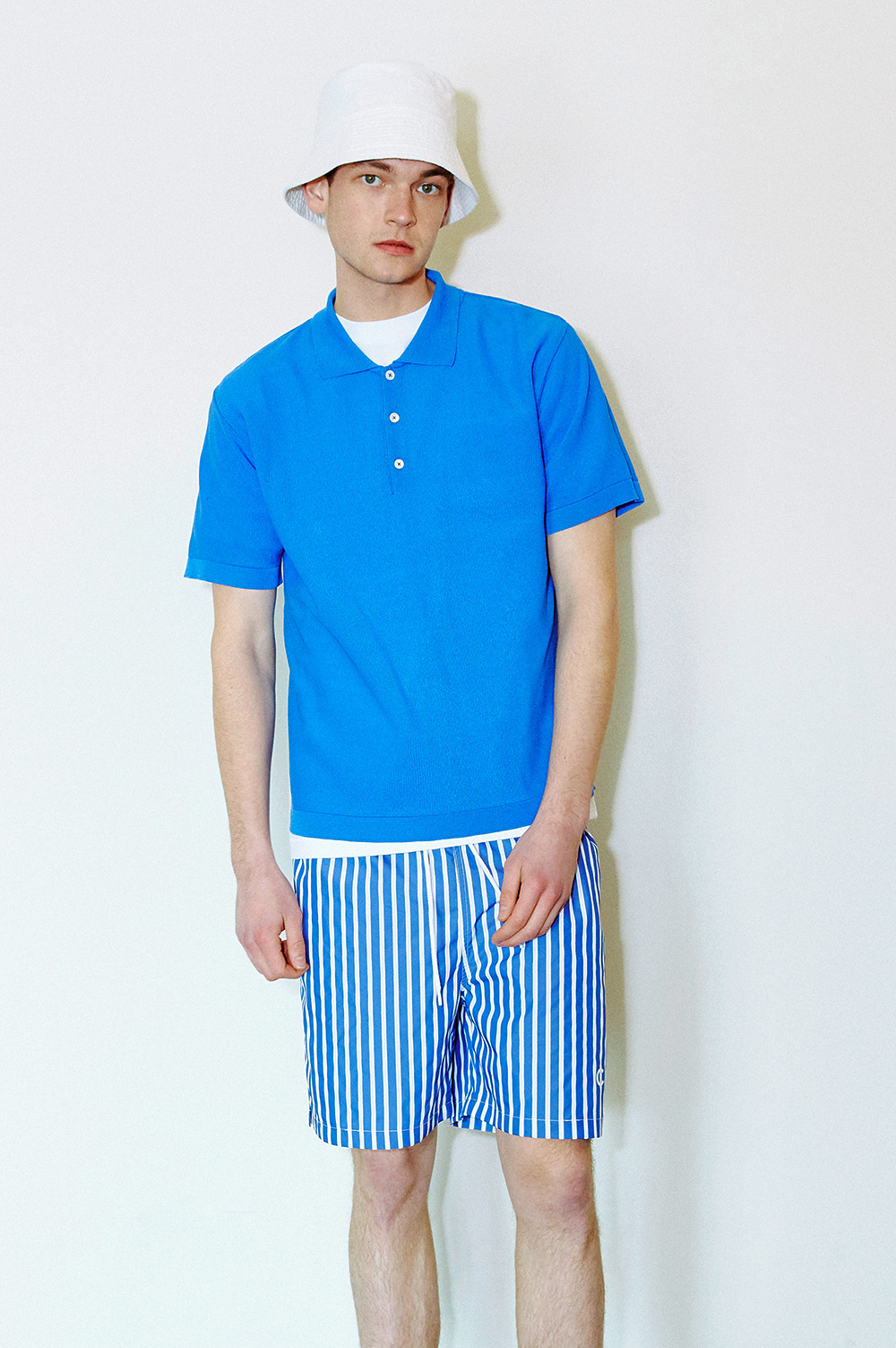 Stripe Shorts_Men (Deep blue)