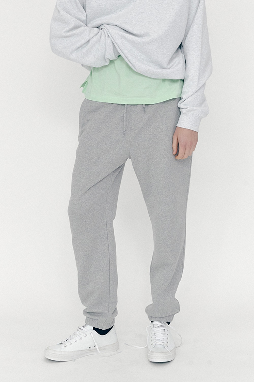 New Active Sweat Pants (Melange Grey)