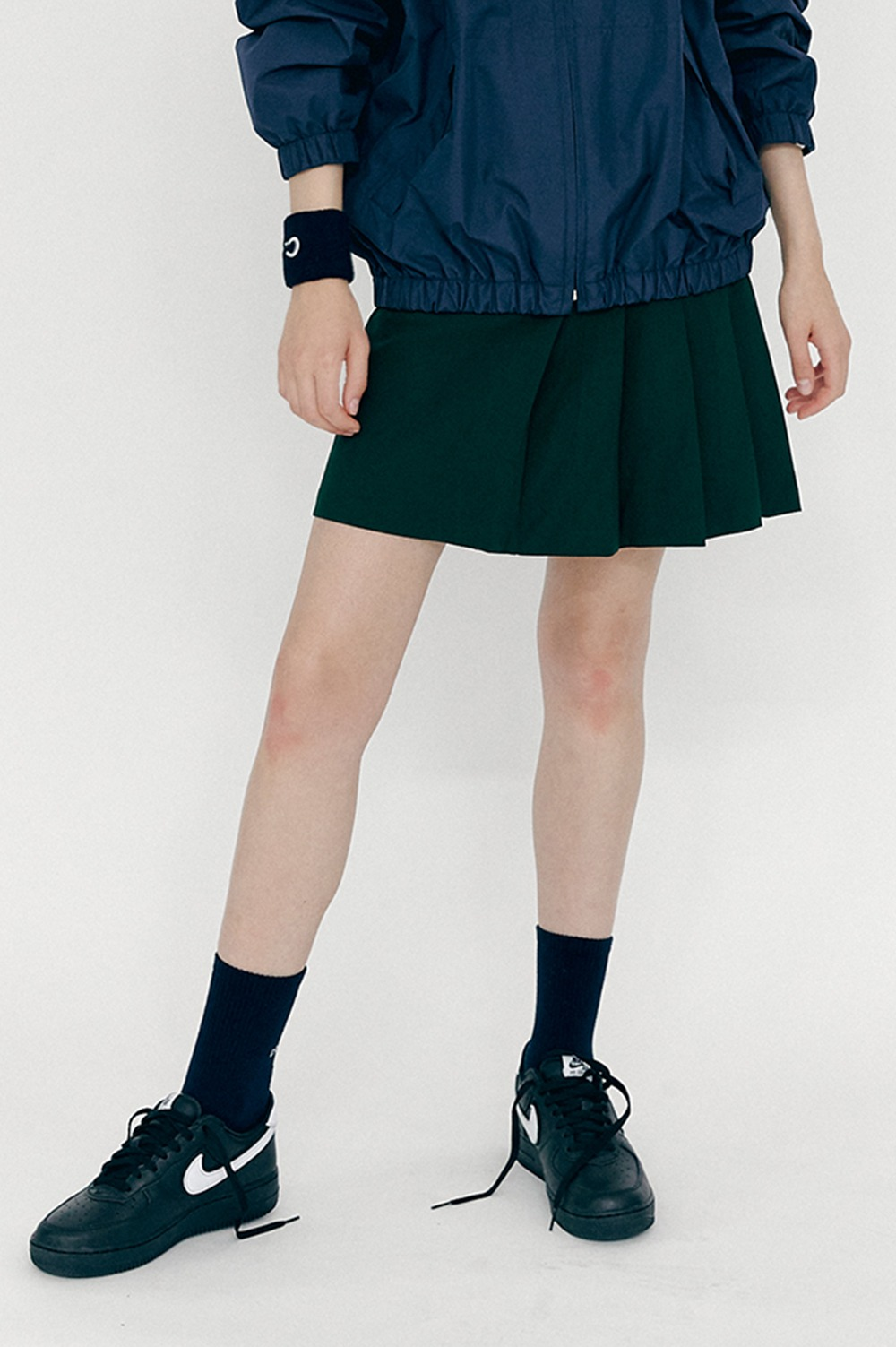 Pocket Pleated Skirt (Green)