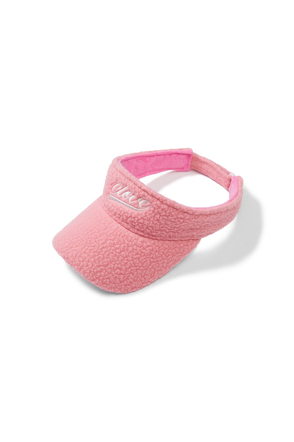 [차정원 착용] Fleece Sun Visor (Pink)